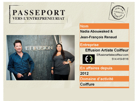 Passeport Effusion Artiste Coiffeur
