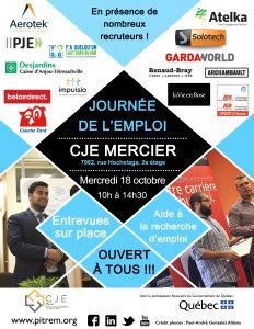 Affiche Journée de l'emploi 18 octobre 2017 V2