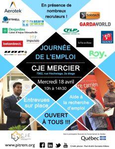 Affiche Journée de l'emploi 18 avril 2018